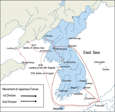Northeast asia history network chronological map of the sino japanese war gumiabroncs
